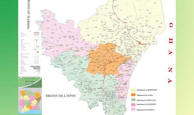 Carte postal de la région du Gontougo